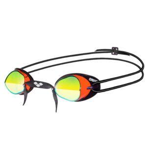 Naočale za plivanje Arena Swedix Mirror (crvena / žuta / crna)