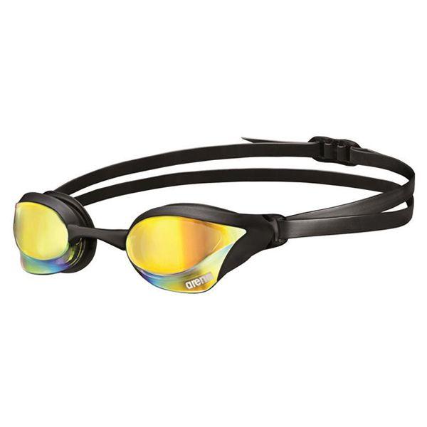 Naočale za plivanje Arena Cobra Core Mirror (crna/revo žuta)