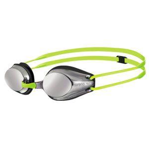 Dječje naočale za plivanje Arena Tracks JR Mirror (srebrna/crna/fluo žuta)