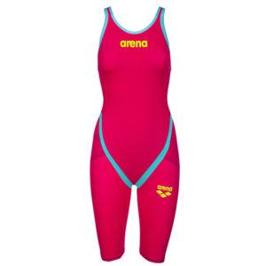 Ženski Arena Powerskin Carbon-Flex VX (jarko crvena/tirkizna)
