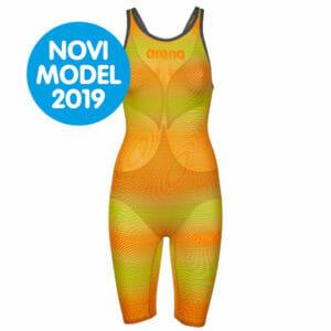 Ženski Arena Powerskin Carbon-Air2 (psyco lime-orange)