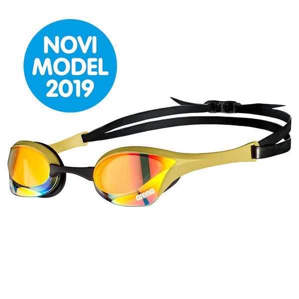 Naočale za plivanje Arena Cobra Ultra Mirror Swipe (žuta/zlatna)