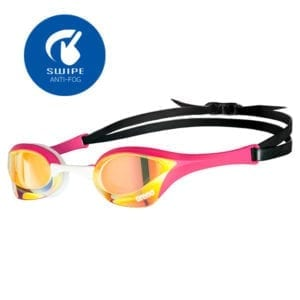 Naočale za plivanje Arena Cobra Ultra Mirror Swipe (žuta/roza)