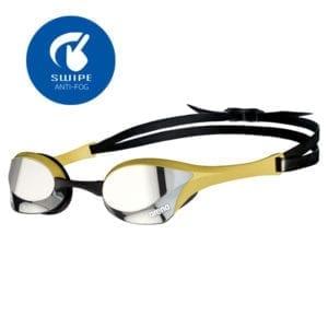 Naočale za plivanje Arena Cobra Ultra Mirror Swipe (srebrna/zlatna)