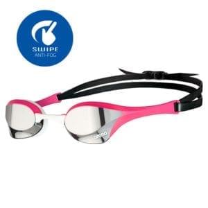 Naočale za plivanje Arena Cobra Ultra Mirror Swipe (srebrna/roza)