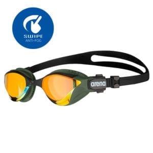 Naočale za plivanje Arena Cobra Tri Swipe Mirror (žuta/zlatna)