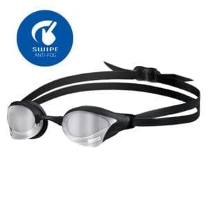 Naočale za plivanje Arena Cobra Core Mirror Swipe (srebrna/crna)