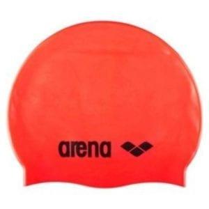 Kapa za plivanje Arena Classic Silicone (fluo crvena)